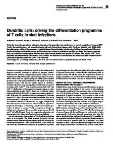 Dendritic cells: driving the differentiation programme of T cells ... - Nature