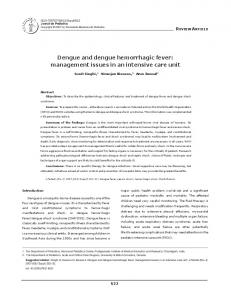 Dengue and dengue hemorrhagic fever - SciELO