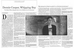 Dennis Cooper, Whipping Boy - Monkeychicken.com