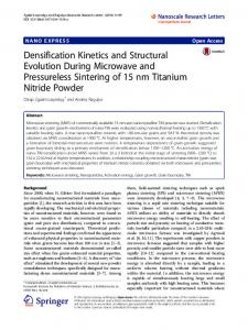 Densification Kinetics and Structural Evolution During ... - Core