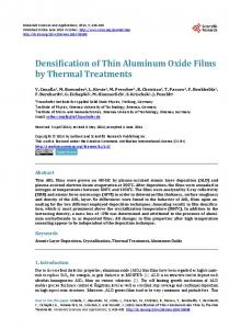 Densification of Thin Aluminum Oxide Films by Thermal Treatments