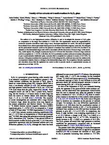 Density-driven structural transformations in B2O3 ... - APS Link Manager