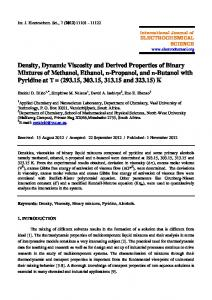 Density, Dynamic Viscosity and Derived Properties of Binary Mixtures