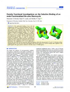 Density Functional Investigations on Selective ... - ACS Publications
