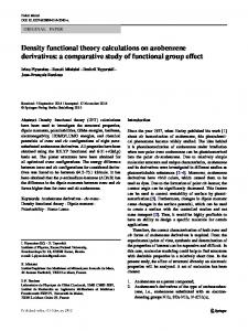 Density functional theory calculations on azobenzene ...
