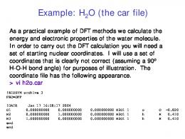Density Functional Theory Calculations