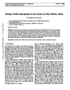 Density Profile Asymptotes at the Centre of Dark Matter Halos
