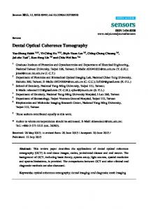 Dental Optical Coherence Tomography - Core