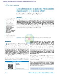 Dental treatment in patients with cardiac pacemakers ...