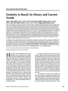 Dentistry in Brazil: Its History and Current Trends - Semantic Scholar