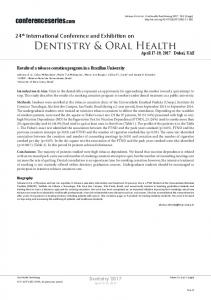 Dentistry & Oral Health - OMICS International