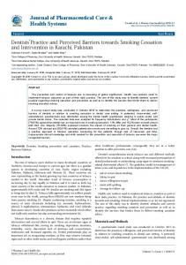 Dentists' Practice and Perceived Barriers ... - OMICS International
