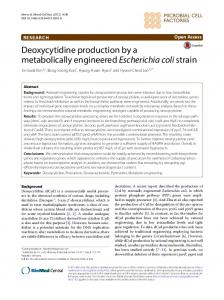 Deoxycytidine production by a metabolically ... - Springer Link