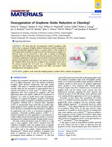 Deoxygenation of Graphene Oxide: Reduction or Cleaning?