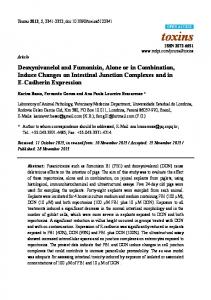 Deoxynivanelol and Fumonisin, Alone or in ... - BioMedSearch
