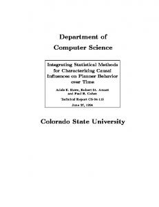 Department of Computer Science Colorado State ... - CS.Colostate.EDU.