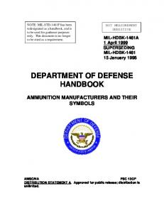 DEPARTMENT OF DEFENSE HANDBOOK - Gigconceptsinc.com