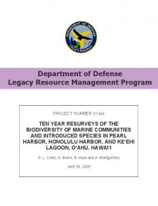 Department of Defense Legacy Resource