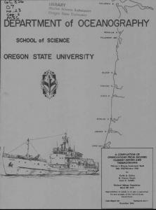 DEPARTMENT of OCEANOGRAPHY - Oregon State University