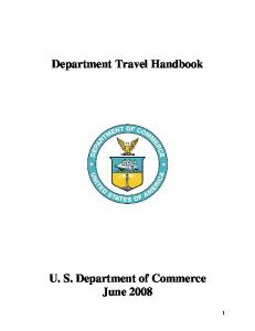 Department Travel Handbook - Department of Commerce