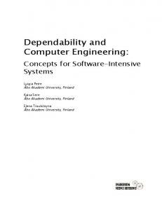 Dependability and Computer Engineering - CiteSeerX