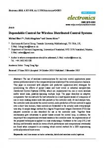 Dependable Control for Wireless Distributed ... - Semantic Scholar