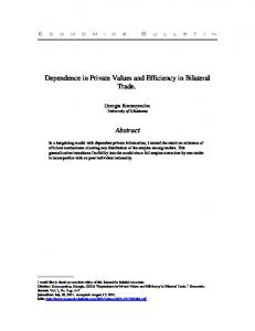 Dependence in Private Values and Efficiency in