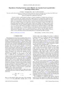 Dependence of beating dynamics on the ellipticity ... | APS Link Manager