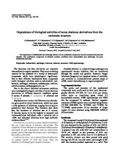 Dependence of biological activities of some chalcone ... - NOPR - niscair