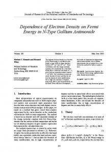 Dependence of Electron Density on Fermi Energy