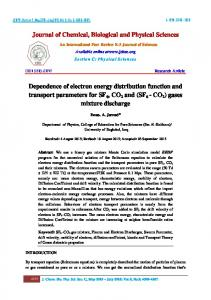 Dependence of electron energy distribution function