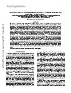 DEPENDENCE OF THE OUTER DENSITY PROFILES OF HALOS ON ...