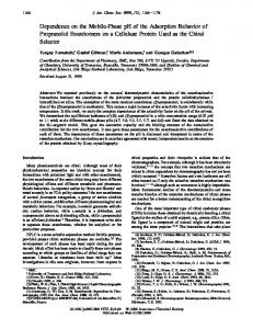 Dependence on the Mobile-Phase pH of the ... - ACS Publications