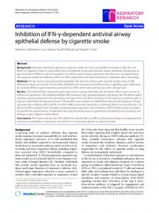 dependent antiviral airway epithelial defense by cigarette smoke