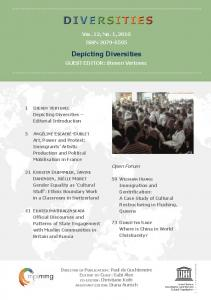 Depicting Diversities - Max Planck Institute for the Study of Religious ...