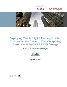 Deploying Oracle 11gR2 RAC on the Cisco UCS with EMC