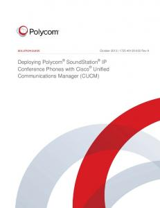 Deploying Polycom SoundStation IP Conference Phones with