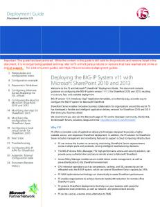 Deploying the BIG-IP system v11 with Microsoft SharePoint 2010 ...