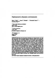 Deployment in dynamic environments