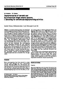 Depolymerization of low-rank coal by extracellular ... - Springer Link