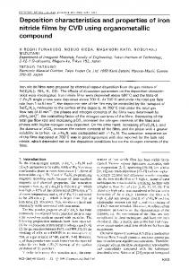 Deposition characteristics and properties of iron nitride ... - Springer Link