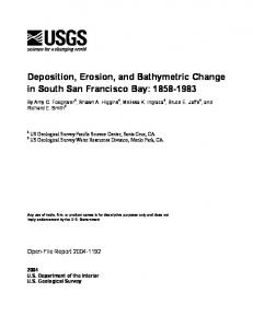 Deposition, Erosion, and Bathymetric Change in South San Francisco ...