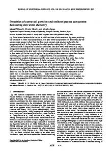 Deposition of coarse soil particles and ambient gaseous ... - Wiley