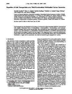 Deposition of Gold Nanoparticles onto Thiol-Functionalized ...