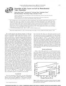 Deposition of SiO2 Layers on GaN by Photochemical Vapor Deposition