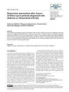 Depression and anxiety after 2 years of follow-up