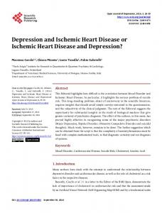 Depression and Ischemic Heart Disease or Ischemic Heart Disease ...