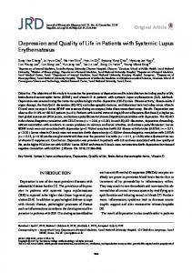 Depression and Quality of Life in Patients with ... - KoreaMed Synapse