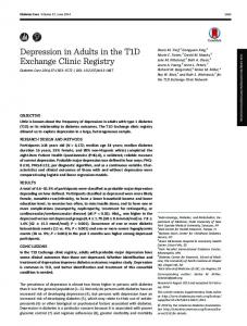 Depression in Adults in the T1D Exchange Clinic ...