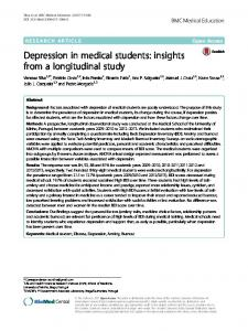 Depression in medical students - BMC Medical Education